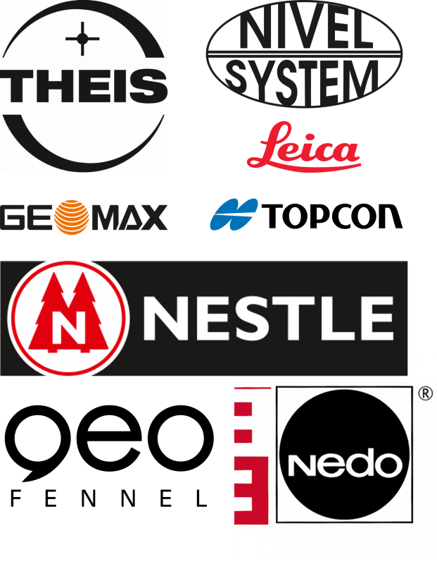 messprofiservice_Collage_Thei_Nedo_geo-Fennel_Nivel_System_Nestle_GeoMax_Topcon