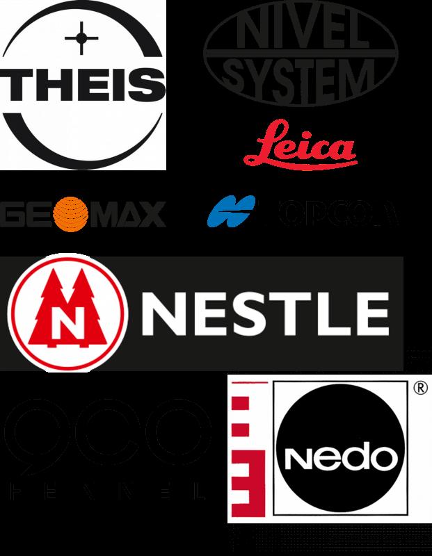 messprofiservice_Collage_Thei_Nedo_geo-Fennel_Nivel_System_Nestle_GeoMax_Topcon