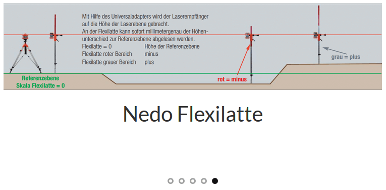 Laser-Messlatt für Rotationslaser Baulaser von Nivel System kein Nedo